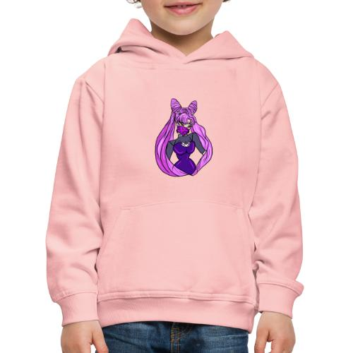 punk gangsta sailor moon inspired chibi dark moon - Bluza dziecięca z kapturem Premium