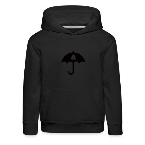 Shit icon Black png - Kids' Premium Hoodie