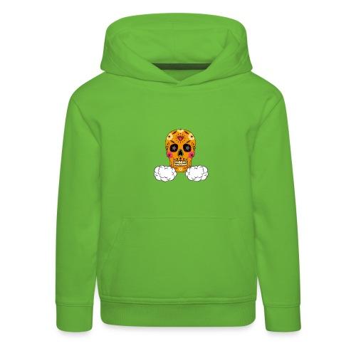 skul orange png - Pull à capuche Premium Enfant