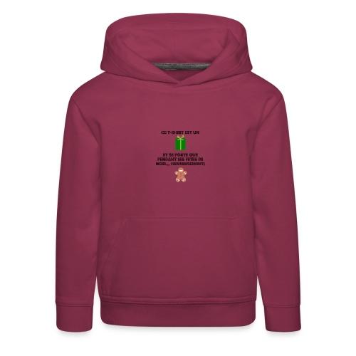 T-shirt cadeau de Noël - Pull à capuche Premium Enfant
