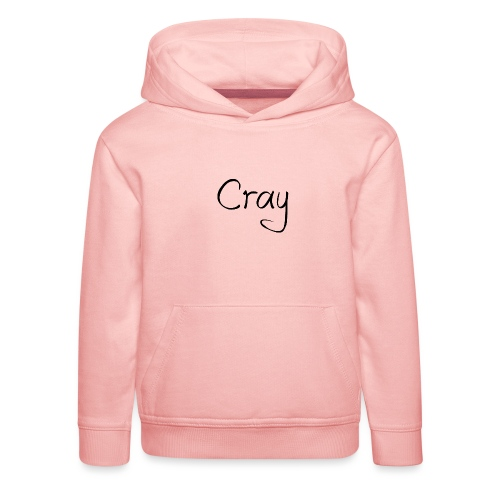 Cray Black Schrifft - Kinder Premium Hoodie