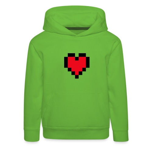 Pixel Heart - Kinderen trui Premium met capuchon