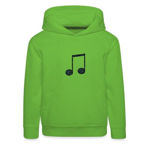 Low Poly Geometric Music Note - Kids' Premium Hoodie