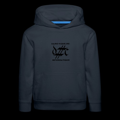 Dark-Code Black Gothic Logo - Pull à capuche Premium Enfant