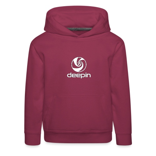 deepinlogotrasparente - Felpa con cappuccio Premium per bambini
