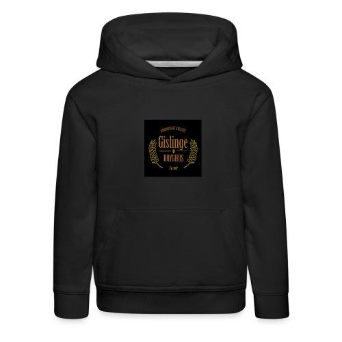 Sort logo 2017 - Premium hættetrøje til børn