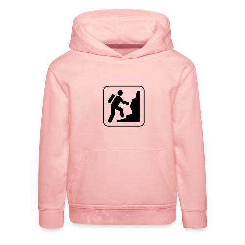 Bergwandern_logo - Kinder Premium Hoodie