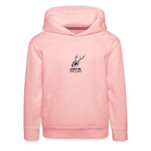 crane sky visu t shirt2 png - Pull à capuche Premium Enfant