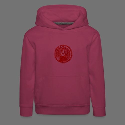 Maschinentelegraph (czerwona oldstyle) - Bluza dziecięca z kapturem Premium