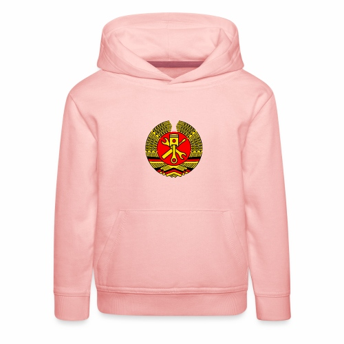 DDR Tuning Coat of Arms 3c (+ Your Text) - Kids' Premium Hoodie