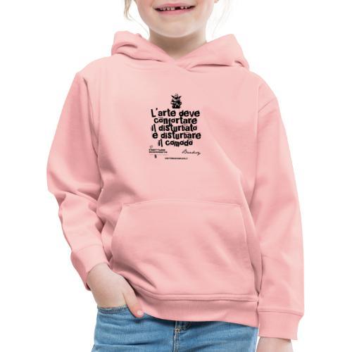 Aforisma Banksy - Felpa con cappuccio Premium per bambini