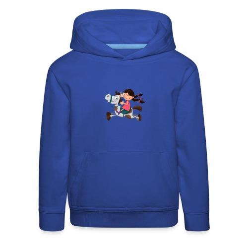 vl099a_pferdemaedchen_4c - Kinder Premium Hoodie