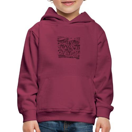 winters bos - Pull à capuche Premium Enfant