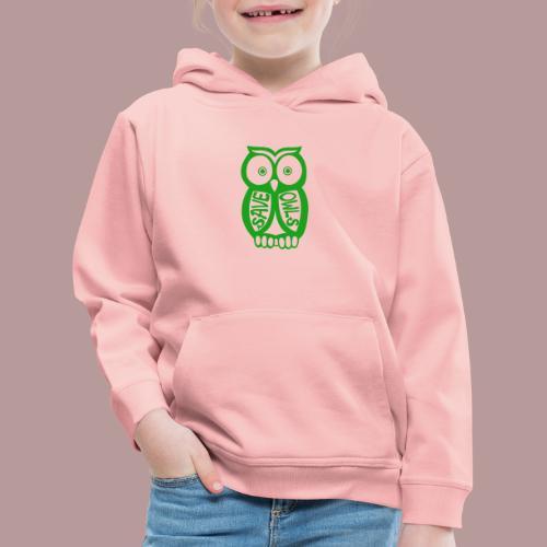 Save owls - Pull à capuche Premium Enfant