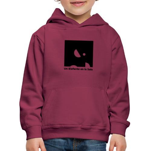 Logo Elefante Negro - Sudadera con capucha premium niño