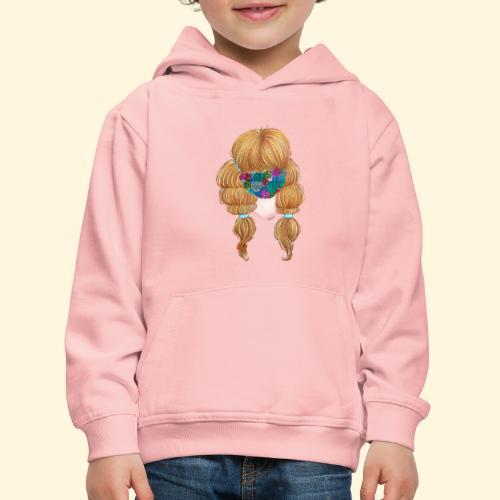 Fille masquée aux succulentes - Pull à capuche Premium Enfant