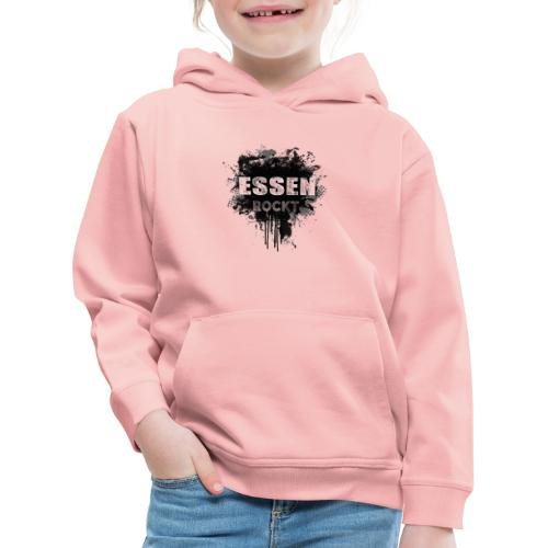 ESSEN ROCKT IN DIRTY BLACK - Kinder Premium Hoodie