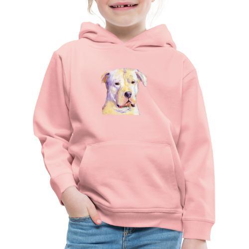 dogo argentino - Premium hættetrøje til børn