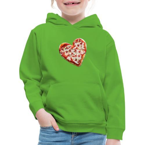 Pizza a cuore - Felpa con cappuccio Premium per bambini