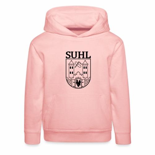 Suhl Coat of Arms (black) - Kids' Premium Hoodie