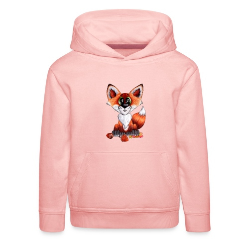llwynogyn - a little red fox - Kinder Premium Hoodie