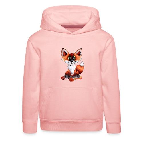 llwynogyn - a little red fox - Premium hættetrøje til børn