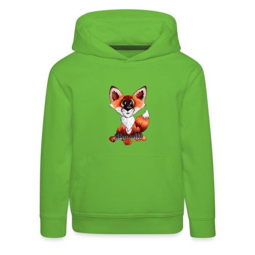 llwynogyn - a little red fox - Lasten premium huppari