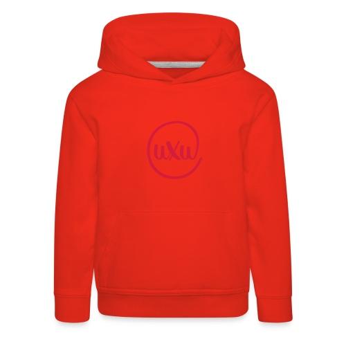 UXU logo round - Kids' Premium Hoodie