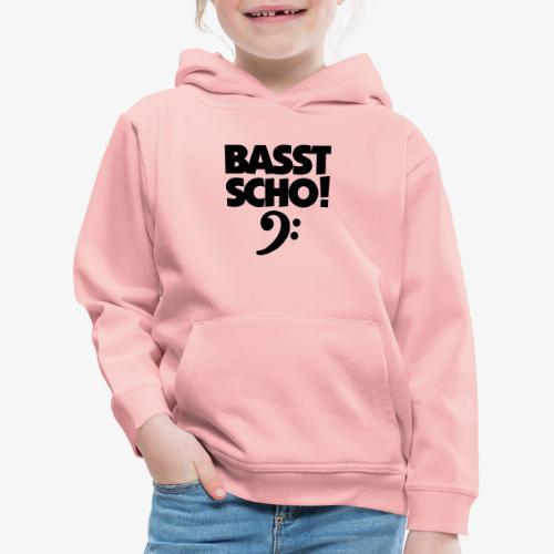 BASST SCHO! Bass Design für Bassisten - Kinder Premium Hoodie