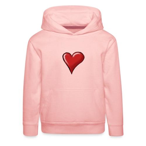 Love (coeur) - Pull à capuche Premium Enfant