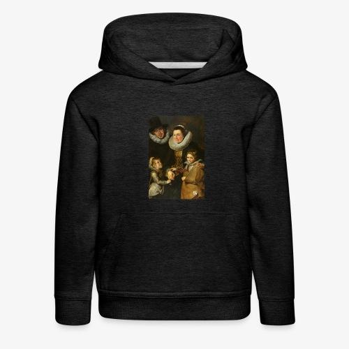 familie-engels2-canvas - Kinderen trui Premium met capuchon