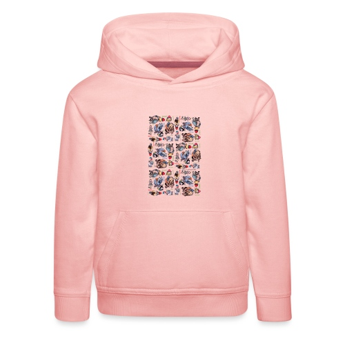 Thelwell Cartoon buntes Pony Muster - Kinder Premium Hoodie
