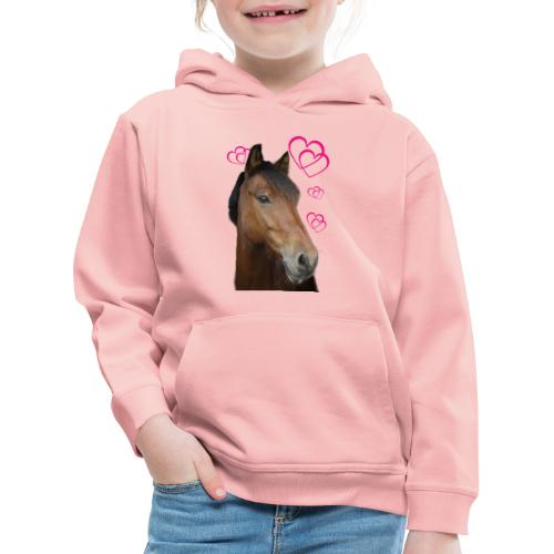Hästälskare (Musse) - Premium-Luvtröja barn