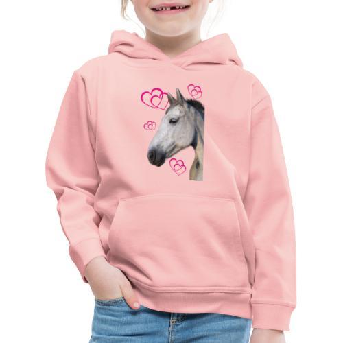 Hästälskare (maya) - Premium-Luvtröja barn