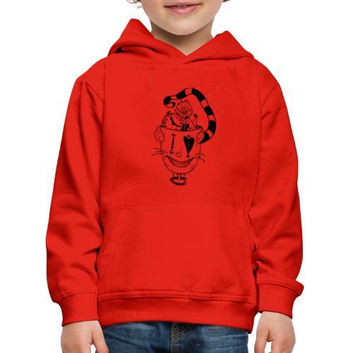 alice in wonderland - Felpa con cappuccio Premium per bambini