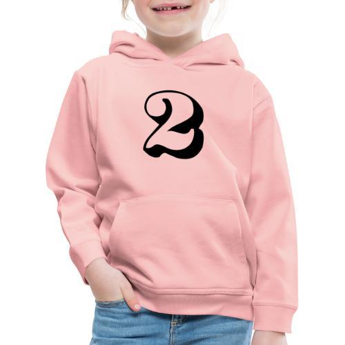 cool number 2 - Kinderen trui Premium met capuchon