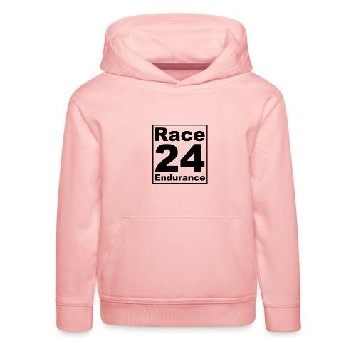 Race24 logo in black - Kids' Premium Hoodie