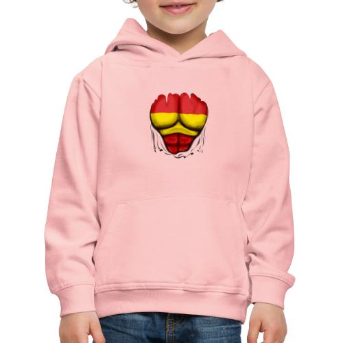 España Flag Ripped Muscles six pack chest t-shirt - Kids' Premium Hoodie