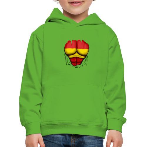 España Flag Ripped Muscles six pack chest t-shirt - Kids' Premium Hoodie