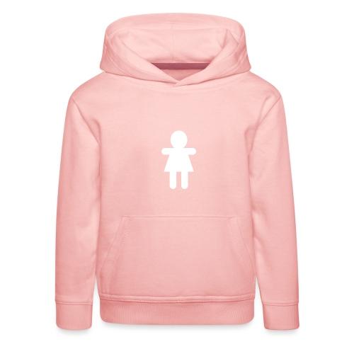 Picto Femme Blanc - Pull à capuche Premium Enfant