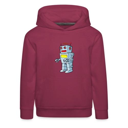 Robot - Felpa con cappuccio Premium per bambini