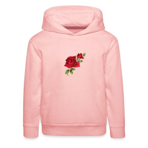 Red Roses - Kinderen trui Premium met capuchon