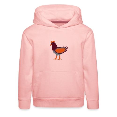 Cock.svg - Felpa con cappuccio Premium per bambini