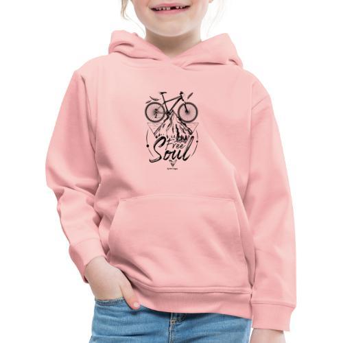 FREE SOUL black - Sudadera con capucha premium niño