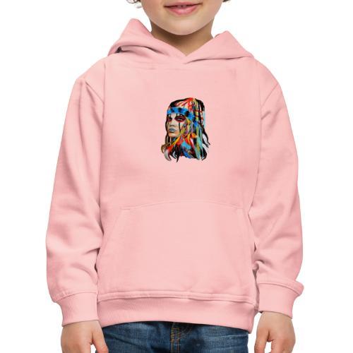 Pióra i pióropusze - Bluza dziecięca z kapturem Premium