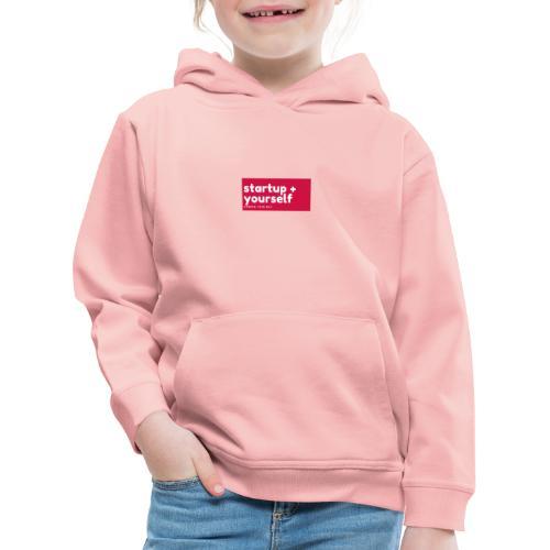 Red White Fashion Logo startup yourself motivation - Kinder Premium Hoodie