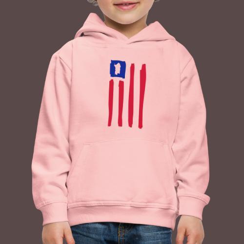 United States of Sardegna - verticale - Felpa con cappuccio Premium per bambini