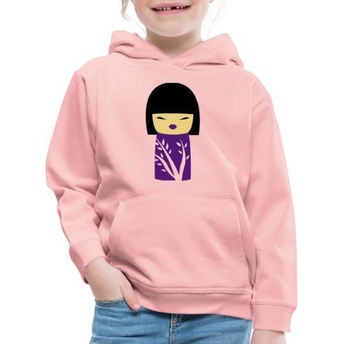 Motif Poupée Japonaise 1 - Pull à capuche Premium Enfant