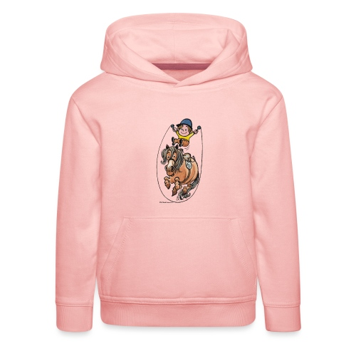 Thelwell Funny Rope Jumping Horse And Rider - Kids' Premium Hoodie