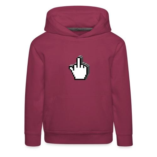 Middle_Finger_Design - Kids' Premium Hoodie